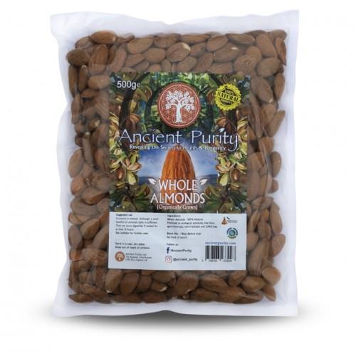 Almonds (Organic) Vit E / Manganese / Protein 500g