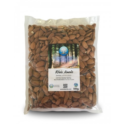 Almonds Whole Organic - 500g
