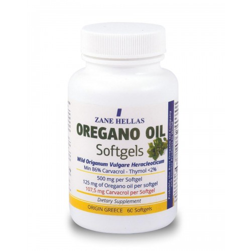 Oregano Oil - 60 Capsules (Pure Greek Wild Organic)