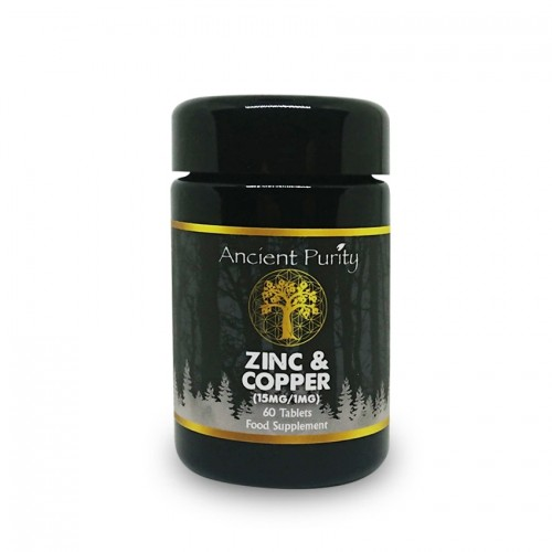 Zinc & Copper (Food State) 15mg/1mg (60 Tablets)