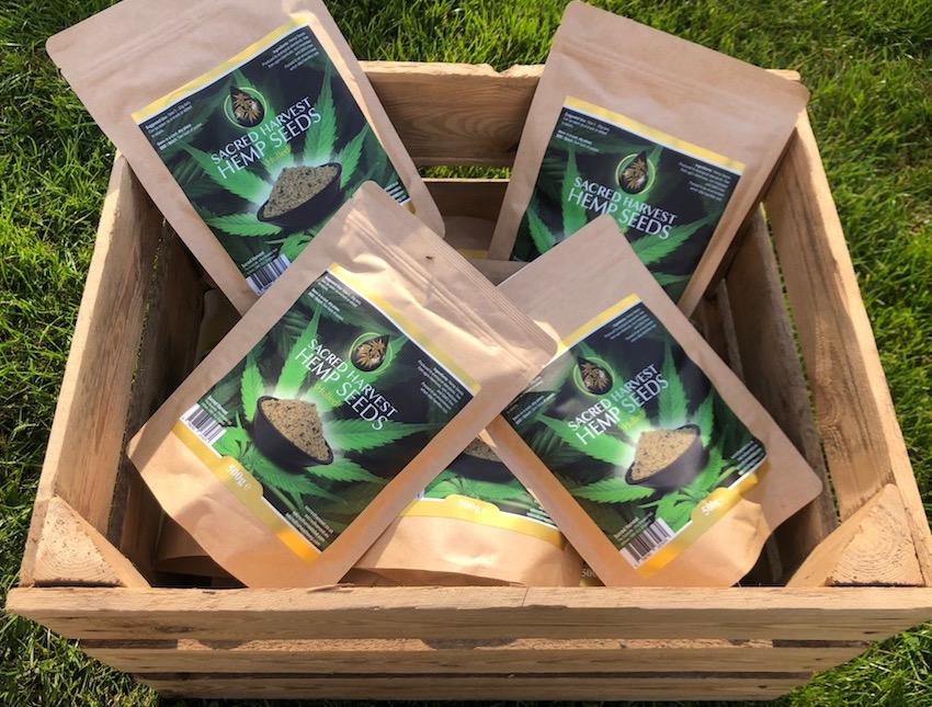 sacred harvest hemp seeds organic england CBD