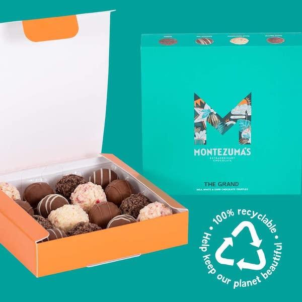 montezuma truffles chocolate box