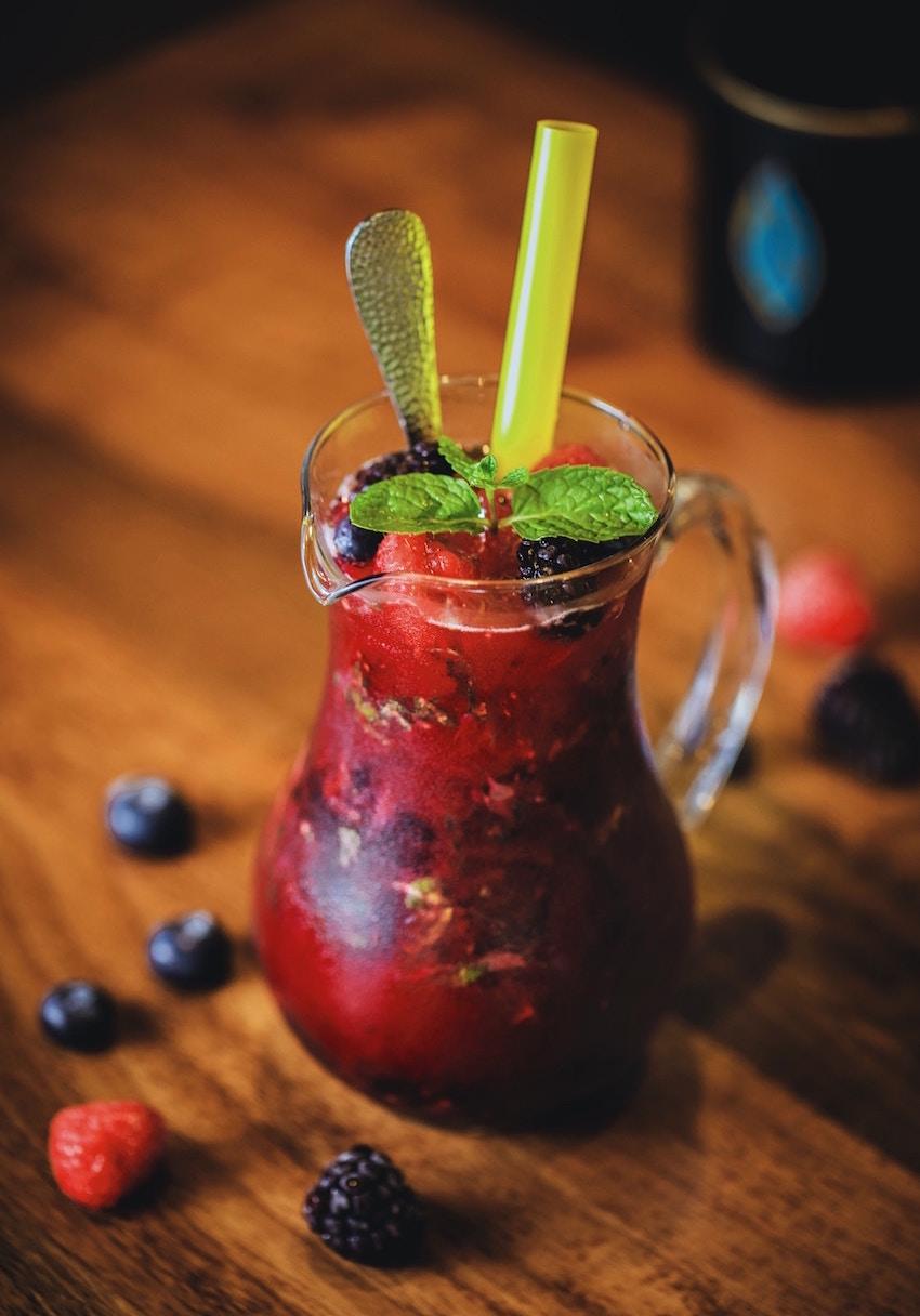 bilberry smoothie organic vegan