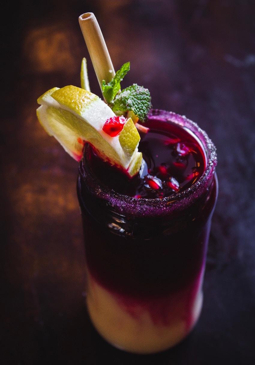 organic blueberry smoothie
