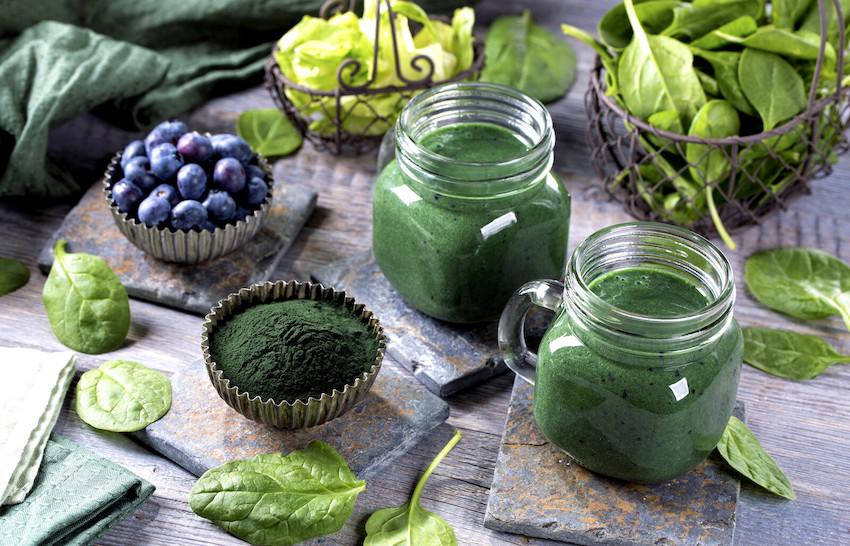 Spirulina & Chlorella organic algae supplement mix