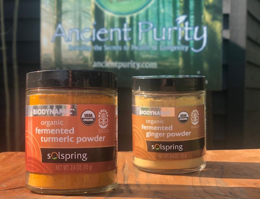 Biodynamic fermented organic turmeric