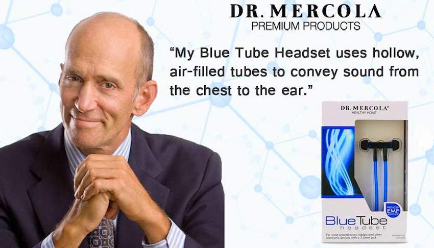 dr mercola products UK blue tube headset