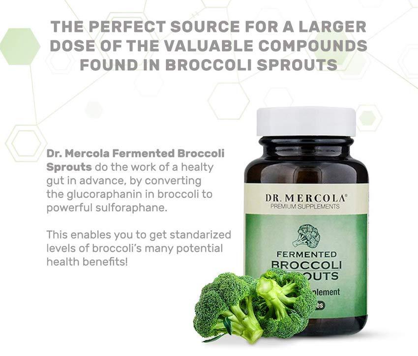 Broccoli Sprouts Fermented - 30 Capsules - Dr Mercola