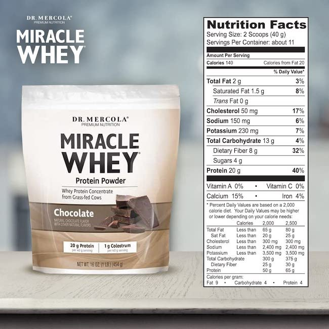 dr Mercola whey protein UK grass fed New Zealand whey