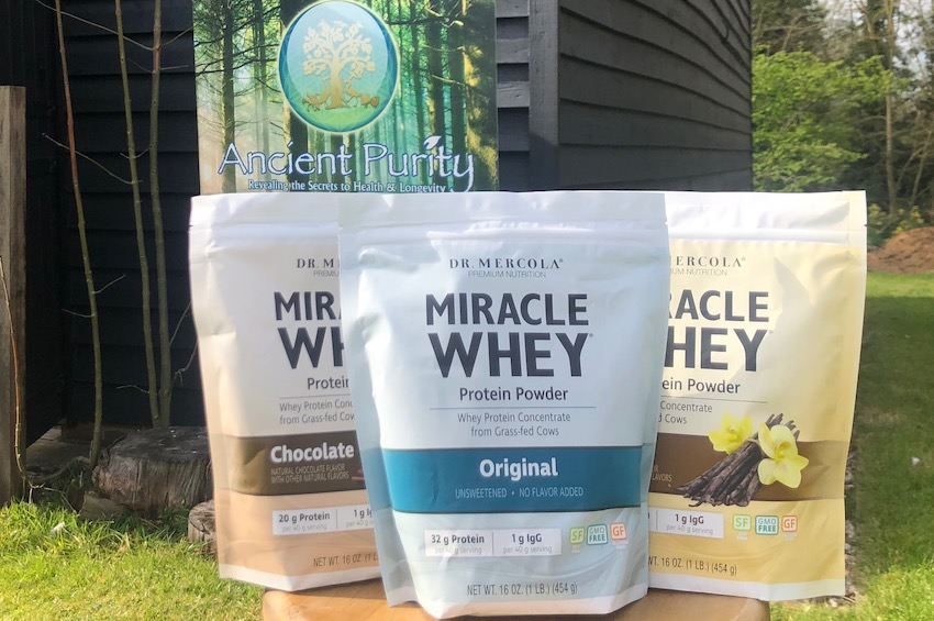 miracle whey grass fed dr mercola UK whey protein powder