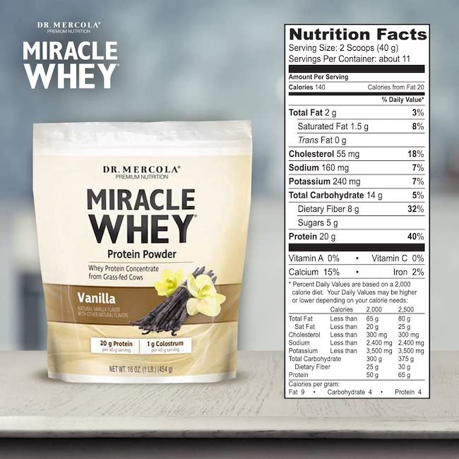 dr Mercola EU whey protein concentrate UK grass fed New Zealand whey