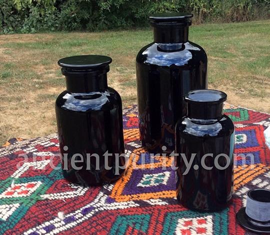 miron glass apothecary jar UK