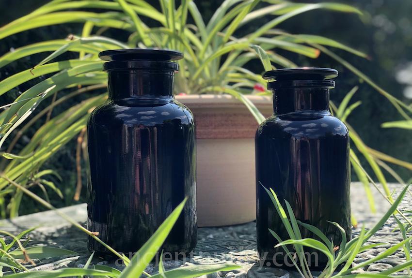 miron dark violet glass apothecary jars UK best storage