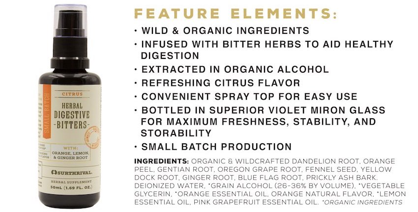 surthrival UK herbal digestive bitters