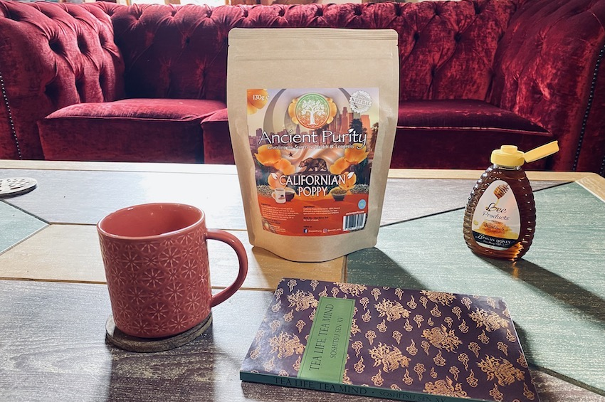 California poppy herbal tea