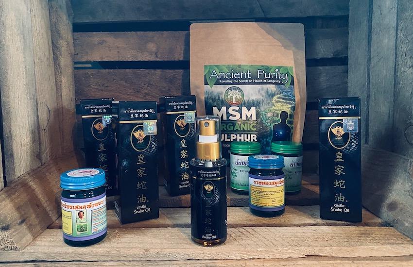 castle snake oil spray herbal medicine Thailand