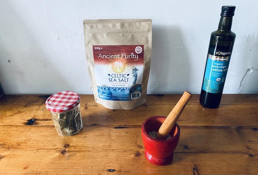 grind celtic sea salt pestle mortar