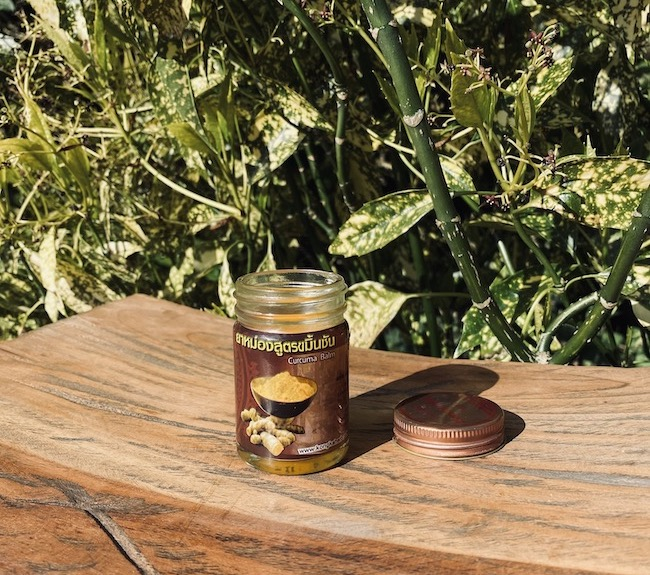 organic turmeric massage balm with Curcumin
