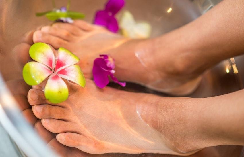 herbal foot bath scrub natural