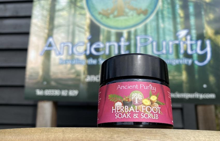 herbal foot scrub foot health