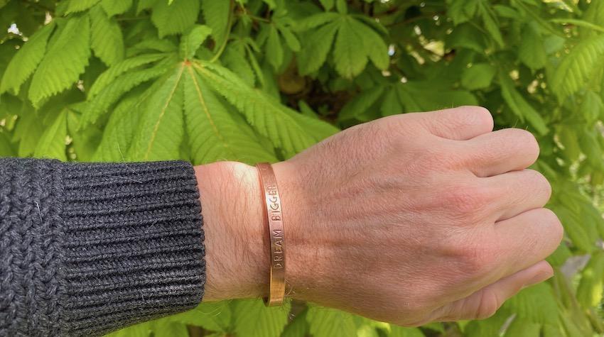 organic copper bracelet