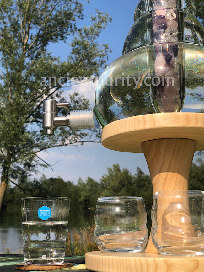 natures design sacred geometry large carafe water dispenser flower of life