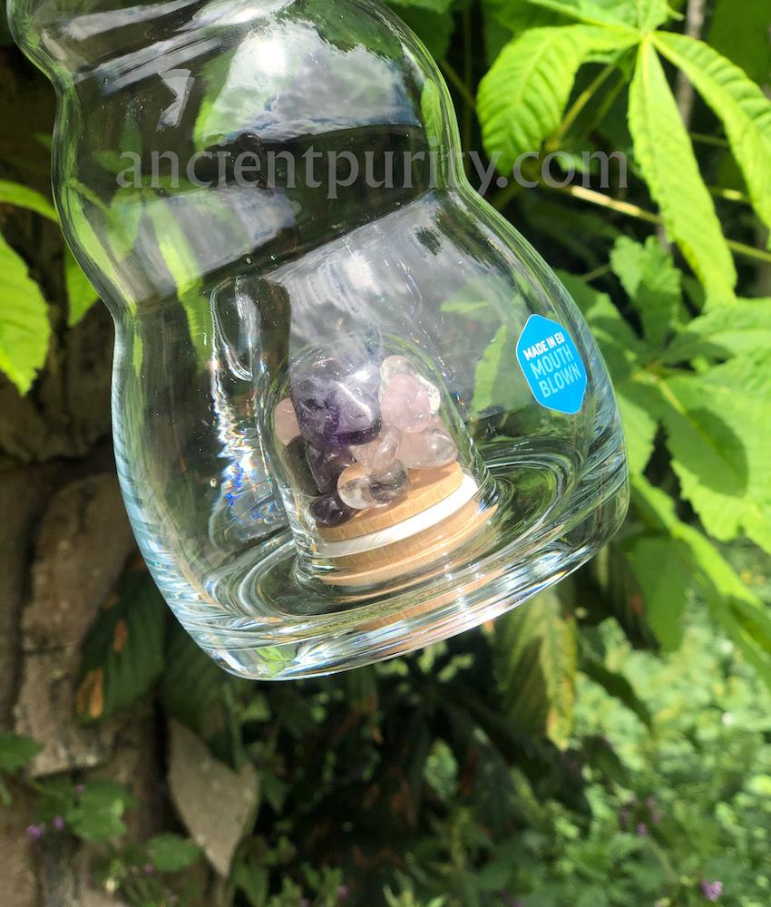 natures design sacred geometry flower of life vegan glassware home