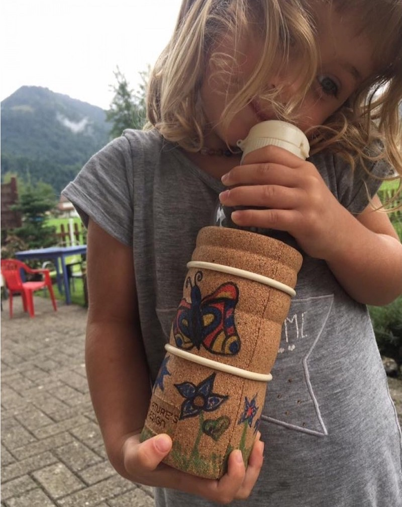 cool eco kids bottle drawing