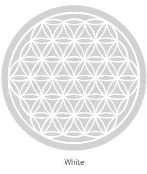 wine glasses with flower of life