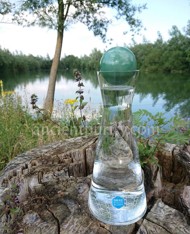 flower of life water structuree crystal magic aventurine crystal energy