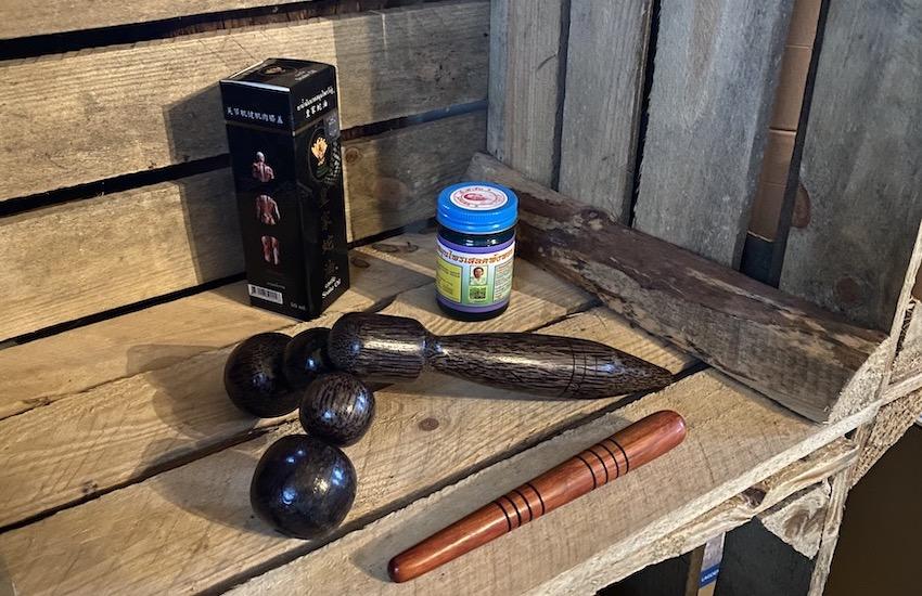 wooden massage tools roller pedal reflexology stick